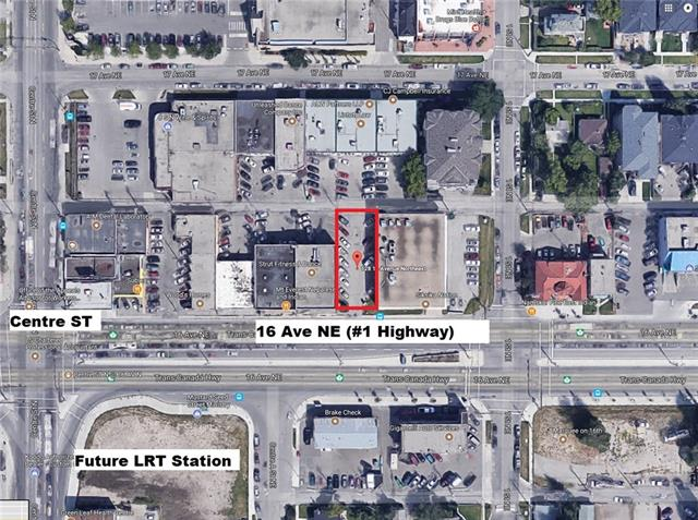 RARE C-COR1 f6 h38 commercial vacant land for sale in PRIME LOCATION facing 16 Ave and future Green Line LRT station** Lot is 5,382 SF with (F.A.R. 6 or 32,292 SF max buildable) with max height 38m (12 floors). Perfect for investment, redevelopment to commercial/residential mixed use building. Amazing exposure to 16 Ave traffic and centrally located for ease of access from Centre ST and 16 Ave. Possible future uses include: medical clinic, convenience store, professional office, restaurant, veterinary clinic and retail.