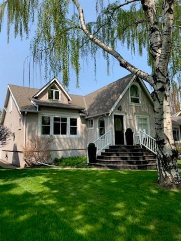 STYLISH & UTTERLY CHARMING 1 � story home in MOUNT ROYAL! Beautiful tree-lined, LOW TRAFFIC street. WALK to schools of all levels, playgrounds, River Park (off leash dog park), Glencoe Club, Marda Loop! Great for a family, single or a couple. BRIGHT main floor w/ hardwood, large living with gas F/P, dining room, galley kitchen, 2 bedrooms, office + full bath. Upper level hosts Master with walk in & en-suite. Lots more living space in fully developed lower with generous rec room, numerous windows, guest room, loads of storage, laundry + full bath. SUNNY, WEST yard with deck & double detached garage. Newer on demand hot water system + high efficiency furnace, lighting, paint, window treatments, carpeting & fencing. RARE OPPORTUNITY to live in this fabulous neighborhood at an affordable price!! Move right in, renovate or buy to rebuild on.