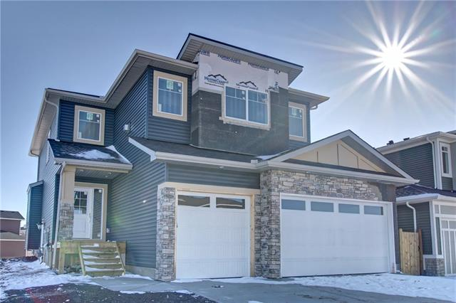 Amazing new 2 storey Home backing onto pond with amazing views. Bright and open floor floor plan on a big lot with large 700 sqft triple garage. Home is fully upgraded with custom cabinetry, engineered hardwood floors and 2 gas fireplace places with stone surround. Main floor features a spacious entry, mud room, walk through pantry and an open concept living room, kitchen, dinning nook layout with access to large deck which includes a gas line for BBQ and topped with. Upper Floor has a large Master Bedroom with 5 pieces en suite, plus 2 well sized rooms and a large vaulted ceiling bonus room with gas fireplace. Nicely appointed with hickory hardwood and tile flooring, granite counters throughout, 9' ceiling on main level, recessed and vaulted ceilings. Home includes new home warranty, $5000 appliance allowance and landscaping. Call now for a private viewing!