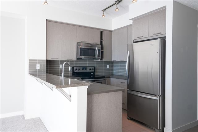 This condo features heated underground parking, close to grocery store, transit (bus & trainstations), backs onto a large green space w/ community garden & all your utilities (except electricity) is included in your HOA fees. A pet friendly complex, visitor parking stalls, in-suite laundry & walking paths. 1 bedroom, 1 bathroom + den this apartment is a great bright space. The kitchen is a beautiful neutral grey w/ slab cabinetry, SS appliances, & a tiled backsplash plus a sit-up breakfast bar! The bedroom is very bright & has already installed racks for organizing your closet. The living space is bright & carpeted that leads out onto the main floor concrete patio w/ a view of the sprawling green space.The den has a sliding door, bathroom has generous storage space, large mirror, wall cabinet,shower / bath combo w/ a removable nozzle. The in-suite laundry room is huge w/ racks already installed for easy organizing & enough room for bikes, sports gear, winter gear, etc.