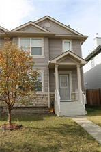 Newer roof & siding (2016) in this fully finished & upgraded 2 storey home in Saddleridge! W/ about 1,600 sq ft developed, this beautiful home has it all; Contemporary layout which features a 17 ft high ceiling from the main level down to the basement, 3 bedrooms & 2.5 baths. The master bedroom comes w/ a walk-in closet & a cheater ensuite, newer high end laminate floors & upgraded plumbing fixtures throughout the home. Other features/upgrades include upgraded toilets, one w/ seat warmer, fully finished basement w/ a second full bath & huge family/rec room, newer high efficiency hot water tank, upgraded humidifier w/ water saver, air exchanger & a digital thermostat control system. The interior was repainted in Oct 2017. This home is conveniently located on a quiet, family friendly street close to schools, shopping, public transportation & other major amenities. Welcome home! Now vacant for immediate possession.