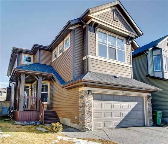 Open house Sunday Mar 31 from 1 pm to 4 pm.Welcome to the beautiful single detached house in one of the best Lake Communities in Calgary. There are plenty of activities all seasons. Fishing, swimming, beach volleyball, sun tanning, canoeing, skating on the private lake. This home boasts over 3,200 square ft of living space. Gorgeous living room with rare 15 ft bay windows, upgraded woodself and beautiful gas fireplace. Modern, stylish countertops, walk through pantry and extended kitchen with dark stained cabinets make this the kitchen of your dreams. This house is fully equipped with A/C, Central Vacuum system, satellite TV disk, all stainless steel appliances, garburator, built in speakers, alarm/security system and humidifier power furnace. There are 4 bedrooms + 1 bonus room vault ceiling with built in sound system. Main floor has a nice flexroom with double doors. Basement was professionally developed with one bedroom, one bathroom and a large rec room. This home is priced to sell and must be seen!