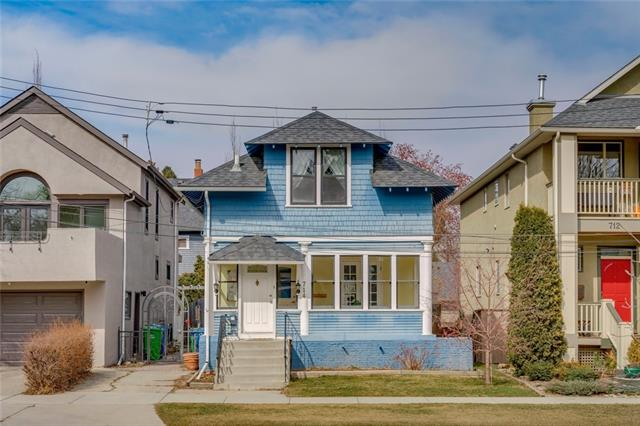 Open House Sat June 15, 12-2pm! Extraordinary value! Full of character, this beautiful home in one of Calgary?s most prestigious neighbourhoods is ideally located - one block from top rated Elbow Park Elementary School, 3 blocks to the Glencoe Club & an easy 5 minute commute to the City core. Great curb appeal with enclosed front porch welcomes you to a functional floor plan full of warmth. Bright living rm opens to large dining area suitable for large dinner gatherings. Convenient den resides at the back of the plan w/ views to the backyard, ideal space for home office. Updated kitchen w/ granite counters & offers lots of storage and newer appliances. Upper level has 3 good sized beds, master w/ new 5 pc en-suite & another full bath. Lower offers rec space/4th bed, full bath & laundry room & plenty of storage. Fully fenced, the backyard is private & serene. Located in the heart of Elbow Park this home sits just a few blocks to the school, the community center & pathway system. Excellent value!