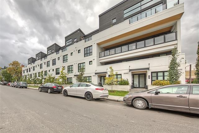 """Lifestyle and convenience are front and centre here in this highly sought after contemporary condo """"The Block""""! Located steps away from 17th Ave SW, you will love the Convenience and Walkability to Shopping, Restaurants, Night-life and Downtown. This funky condo features an open concept floor plan. The kitchen and spacious living room are the focal points making it ideal for entertaining. A sliding door opens up to the master bedroom complete with walk-in closet and large windows to let in an abundance of natural light. The bathroom boasts a huge tiled and glass shower with plenty of storage. High-end finishing?s including quartz counter-tops, SS appliances, built in cabinets, flat finished vaulted ceilings, in-suite laundry, titled underground parking and storage that makes this a perfect home for urban living."""