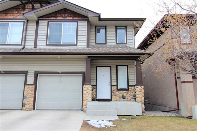 IMMACULATE Location is fantastic!! Close to all amenities, Stoney Trail and easy access to Beddington, schools parks, public transportation. This two story townhouse is a must to see! All new paint & flooring throughout. Sellers have replaced a lot of the light fixtures. Main floor has an open concept from the living room to the dining room and kitchen area. Kitchen features corner pantry, newer stainless steel appliances, L-shaped island . Spacious nook area with door to a good sized deck. Living room with corner gas fireplace. Upstairs has two huge bedrooms including a master with sitting area, walk in closet, 4 pce en suite. The other bedroom also has a 4 pce en suite and walk-in closet. Large area between the rooms has a desk for office area. Basement is undeveloped with a WALK OUT to a concrete patio. Single car garage with electric garage door opener. This home shows extremely well and is move-in ready!