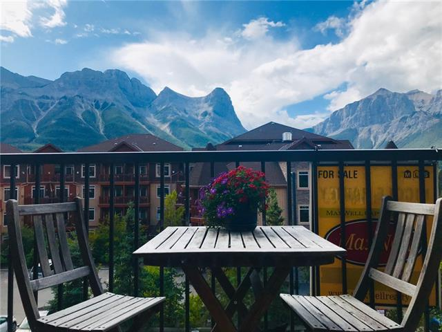 Over 1112 square feet. 2 bedrooms, 2 full bathrooms, 2 levels, end/top floor unit, south facing balcony and stunning mountain views from every window. Central location and walking distance from shops, restaurants, schools, downtown, elevation place, bus stops and trails. This is a great property for first time buyers to get into the Canmore market. Investors! Canmore has a near zero percent vacancy rate. Ask me for details on an investment calculation tool that I can share to show you what your return could be. The residential building has no live/work zoning restrictions, meaning that you do NOT need to work in the Bow Valley to purchase. It's a professionally managed building if you decide to rent it out, and its pet friendly so Rover can come along for all of the adventures. Excellent value for a unique mountain home.