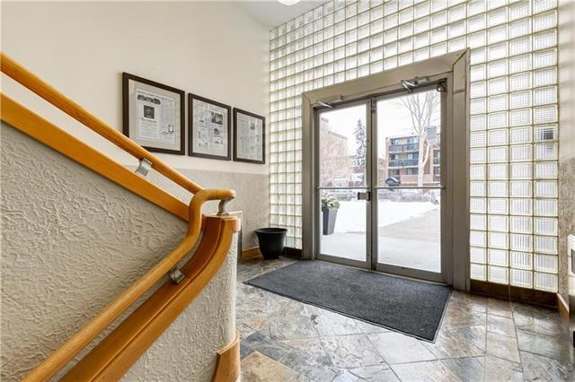 """LOCATION LOCATION """"NEW YORK STYLE FLAT"""" Incorporating VINTAGE 1940'S ELEMENTS & HERITAGE Details!Own Your own PIECE of HISTORY!Calgary's Historic Resources Inventory by the Calgary Heritage Authority! """"THE ATHLONE"""" 1940's Fully Refurbished Condo -Nothing like this in Calgary.Very Few Condos come for Sale in this Fabulous Very Well Managed/Maintained Condo Building!This FAB SUNNY SW Corner Unit with Some Original Concept that adds to the CHARACTER and CHARM,Nickle Plate Original Radiators and Door Handles,Front Loading All in one washer/Dryer.Secure Bike Storage and Recycling Program.unit is below grade.All this and More keeping the Taste True to the Character of this Charming Space!Perfect for the DT Person just Steps from all the Shops and Fabulous Restaurants on 4th & 17th Ave,Minutes to D/T in Sought After MISSION.Call Now for your Private Viewing!Condo fees include Electricity!Pet Lovers this Building does allow Well Behaved Dogs!This Building was NOT affected by Flood!Condo fees include Electricity,"""