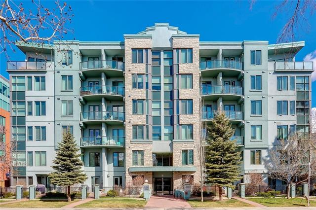 Welcome to Le Beau, a quiet concrete building located in Mission - one of Calgary's trendiest and most sought after communities.  This penthouse unit with soaring high ceilings and a whopping 1358 sq ft is sure to impress.  The large, open concept kitchen and living space is excellent for entertaining and allows plenty of room for a separate dining area and a separated home office.  Cozy-up by the fireplace in the winter or step out onto the enormous deck and take in the South panoramic views in the summer - The perfect space for indoor/outdoor entertaining. A second balcony is also accessible from both bedrooms.  Master bedroom comes complete with walk in closet and 5 piece ensuite with his/hers sinks.  This unit comes with 2 adjacent titled parking stalls including one oversized spot, the building has visitor parking as well.  Only steps away to the action of 4th St, 17th Ave and a short walk to downtown.  Book your showing today and see why this Mission unit is the perfect place to call home.