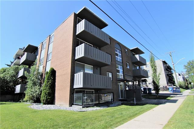 PRICE REDUCED! Location, location, location!! This renovated one bedroom condo is located close to all amenities, parks, schools, public transportation, and walking distance to trendy 17th ave SW. Open concept with from kitchen, living room and eating area. Kitchen feature lots of maple cabinets, granite counter tops, L shaped island/eating bar. Attached desk area for a workstation. Stainless steel appliances. Spacious bedroom with lots of closet space. Reno'ed bathroom features trendy tile and ceramic tile flooring. Maple hardwood throughout the rest of the condo. In suite laundry with a little extra storage space in the laundry room area. Assigned parking space and street parking available. Condo fees including ALL utilities!! This property is great for an investment or first time buyer. A must to see!