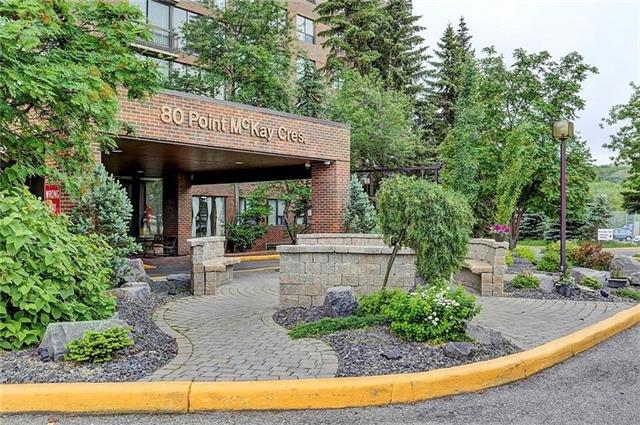 Investor Alert! Now offering this South Facing Corner unit flooded with natural light, overlooking the Majestic Bow River Valley. This 2 bedroom, 2 bathroom unit offers all the comforts of home including floor to ceiling windows, in-suite laundry, and a well planned and functional kitchen. The unit is complete with in-suite storage, and a wrap-around balcony to soak up all the natural wonder from your very own panoramic vista view and uninterrupted horizon! Assigned underground parking and an additional storage locker are also yours to enjoy. Opportunity is knocking Calgary... Will you answer?