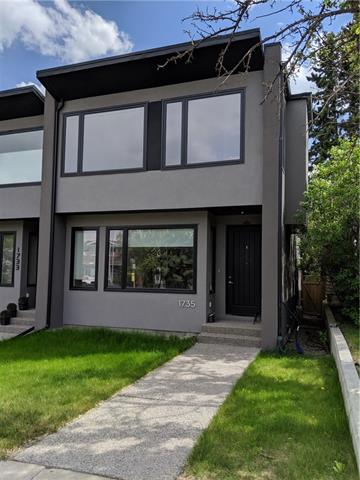 *OPEN HOUSES SAT + SUN JUNE 15, 16 2-4PM* This contemporary 2 storey attached home screams your name. Super bright home with a south facing backyard oasis. Main floor boasts open floor plan with centre galley kitchen, european appliances and quartz countertops. Extending the quartz island in a unique dine in counter. Two-tone kitchen cabinets and awesome glass tile backsplash with counter windows you will love. Maple hardwood floors and glass railings compliment the entire main floor and second floor. Upstair you will find 3 spacious bedrooms with an amazing master ensuite complete with full tile shower, stand alone tub and large walk in closet that will make your friends jealous. Basement is fully finish with 9 ft ceilings, 4th bedroom with walk in closet, full bath with shower and an expansive rec/media room great family time or entertaining with wet bar. Radiant heating thru-out basement. The backyard offers a 2 tier deck great for those BBQs. Aggregate concrete sidewalks. See What Marda Loop offers!
