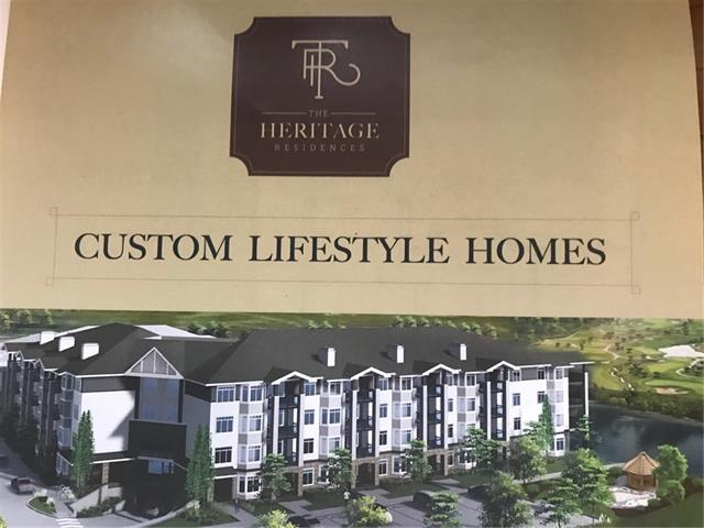 """Welcome to """"The Heritage Residences"""", custom lifestyle 50+ adult condominium homes nestled beside our pond. The Heritage Residences are a """"step forward"""" for High River. The 1120 sq ft LEITCH model offers two bedrooms, each with a walk-in closet and ensuite, 100 sq ft covered patio deck, fireplace, in-floor cozy heating and spacious 9' ceilings. Enjoy the convenience and safety of underground titled parking, complete with your own secondary secure storage area.  Customize lifestyle choices include kitchen cabinets, appliances, flooring, paint colours, bathroom vanities and bathtubs & showers. This model and 5 other models are offered in this new, Phase 2 development of Heritage Residences slated for construction start in 2020. Secure your new home in this desirable development today and enjoy the benefits of pre-construction pricing!! A small deposit holds your selection until construction dates are confirmed."""