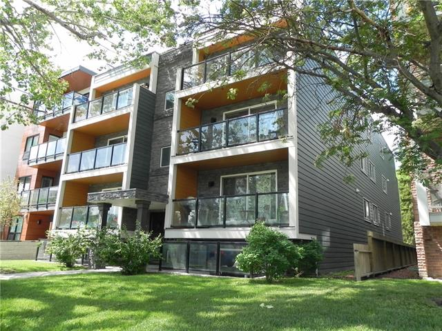 Located in desirable Renfrew, just minutes to downtown!   This two bedroom, 2nd-floor condo overlooks beautiful Bridgeland park. Just relax on the spacious patio, enjoy your morning coffee and catch some morning sun.   Featuring hardwood floors, stainless steel appliances, customized kitchen cabinets, granite counters and an ensuite washer and drier, this condo exemplifies modern urban living.   It also features a big master bedroom and with a decent size den with a built-in granite desk, use it as an office or a makeup vanity.   There is an outside parking stall assigned to this condo and unlimited parking available by the building and around the park.   It is only 5 min walking distance to Co-Op, Safeway, Starbucks and some fancy brunch places, such as Over Easy Breakfast & Blue Star Dining.