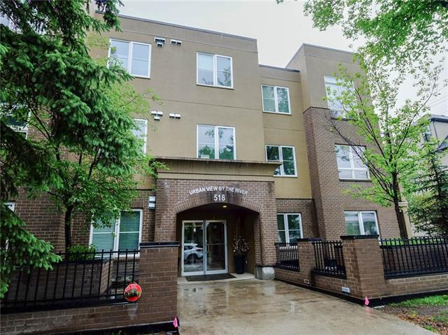 What a great opportunity to own in the beautiful neighborhood of Parkdale! with 1,015 Sqft of space and an open floor plan, this ground floor unit is a gem. The kitchen has Beautiful granite countertops and ALL stainless steel appliances. dinning nook off the kitchen leads into the spacious living room, with 9' ceilings throughout the whole unit. The two Bedrooms are both very large and open. the master has a walkthrough closet, and an en-suite 4 piece bath, and a door straight onto your patio to enjoy your morning coffee. TITLED storage and TITLED TANDEM parking (two stalls).  Don't miss out on your opportunity to own this beautiful space. Close to down town, shopping, professional buildings, restaurants, schools, hospital, Bow River Pathways.