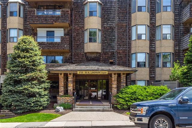 Great location, across from Market Mall,close to Bus, Schools, U of C, Children's Hospital and park.                                This 2-bedroom Apartment is completely Renovated:New Paint, carpets,counter tops,new stove and outside deck has been replaced.You can plant flowers right by the deck! the building is very well landscaped. This building has an elevator, this unit comes with 1 heated underground parking and storage.This is an Adult 25 plus building.Please call to view.