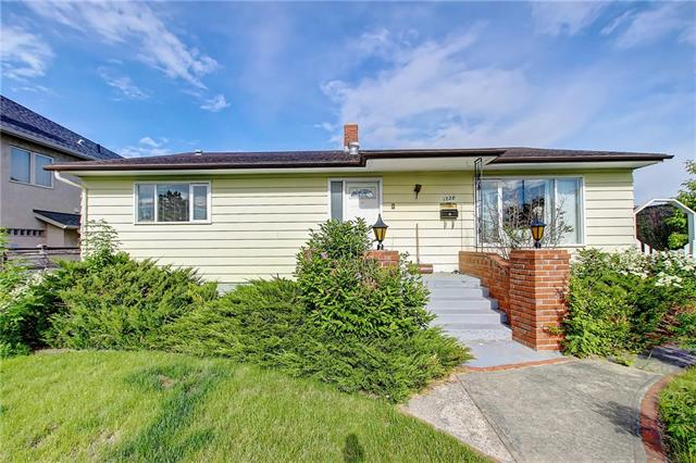 Great Opportunity! Endless  possibilities with this Corner Lot-steps away from LRT. This 60x120 lot with full views of Shaganappi golf course -water feature right across the street! Only one block  the Shaganappi golf club house, and just down from the Bow River Pathway system. Fabulous location for an easy life style. This home is  very well maintained and features over 2,400 sq ft of living space. Enjoy a spacious kitchen, overlooking a large back yard- lots of room to garden! Abundant natural light fills this space, solid oak cabinets, tons of storage space. Total of 4 bedrooms with a fully finished basement. Great community, walk to schools, shopping, restaurants and access downtown with a quick commute on the LRT. income.Lots of room to store your gear in the  25x26 detached  garage.