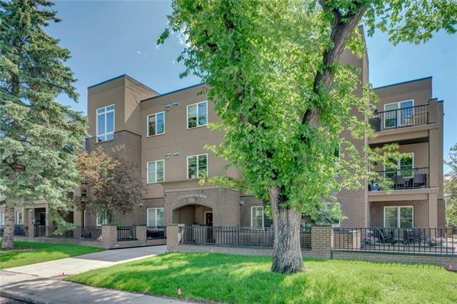 Located just steps from the Bow River and just down the hill from the Foothills Hospital this wonderfully kept one-bedroom end unit with neutral d�cor is in the perfect location and just 10 minutes from downtown. Highlights of this free flowing, open concept floor plan with infloor heating includes 9? ceilings, granite counter tops, stainless steel appliances, maple kitchen cabinetry, a breakfast eating bar, large dining area with plenty of room for a table of six,  a spacious living room with a tile faced, gas fireplace topped with a mantle and a modern 4 piece bathroom featuring granite counter tops, vessel sink and stylish subway tile. This bright and spacious end unit with plenty of windows bringing in an abundance of natural light also comes with insuite laundry, a large outdoor patio (90 square feet) with a gas hookup for a barbecue, a titled storage unit and titled underground parking. Enjoy the summer days on the river pathway and experience inner city living!