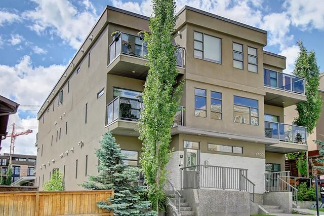 Welcome to The Meritage, a desirable modern condo complex conveniently located close to downtown and 17th Ave. This pet-friendly 1 bedroom, 1 bathroom unit comes with in-suite washer & dryer, a heated underground parking spot and custom built walk-in closet for maximum storage! This space is filled with beautiful natural light complete w/ wide plank flooring, open living, dining and kitchen w/ stainless steel appliances. Modern fixtures, white, bright cabinetry, quartz countertops + island and 9 foot ceilings set the ambience. The master bedroom comes w/ 4 piece bathroom, walk-in closet and hot water on demand. Walk out to your cozy, south facing covered deck, looking onto large trees for extra privacy. Surrounded by shops, restaurants and the livelihood of Marda Loop and Bankview this area is highly sought after, just a short drive and you're on Crowfoot Trail which is great access to anywhere in the city plus River Park is just a short walk away to retreat back to nature!