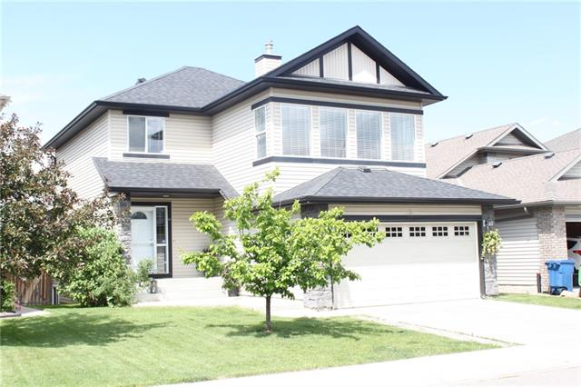 """Great value to live in one of Airdrie's """"TOP COMMUNITY"""" as voted in for the last several few years! Currently the least expensive detached home in all of Coopers! This is a fully featured, 4 bedroom, home with fully developed basement and massive, vaulted bonus room! Main floor is full hardwood, and open concept with large kitchen island and cost corner gas fireplace. Upstairs, three large bedrooms, with full ensuite and walk in closet. The basement has been finished to include bedroom number 4, and a FULL washroom with heated slate tile flooring and steam shower! Downstairs is also prewired for full surround sound and movie projector. New carpet throughout the home, along with a fresh coat of paint for the new family. Back yard has large playcenter (which will stay), and good sized deck for entertaining. Two new Schools in Coopers make this area fantastic to raise a family! Flexible possession, but can be as late as November or even December! Make your move today!"""