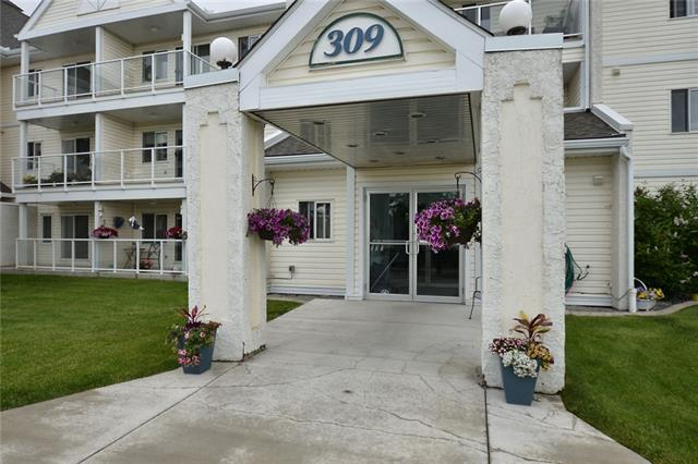 """Quiet, tranquil, 55+ living awaits the new owner of this charming & affordable 2 bedroom, 1 bath, TOP FLOOR unit. Sit out all evening on your large (5'x15') west facing balcony overlooking beautiful trees and a well-manicured expanse of green. Bring your favourite book and relax in the gazebo. Everything you need is right here, perfect for 1 person or a couple. Kitchen has just enough cupboard, counter and storage space. Washer and dryer conveniently located in the unit, along with some storage. Bathroom is a """"cheater"""" ensuite with access from both master bedroom and main hall. There's a social room with kitchen for anytime coffee with friends, or while away an afternoon doing crafts in the hobby room. Woodside is a beautiful and mature golf course community with plenty of shops and services too. If you're ready to take it easy and leave the lawn care and snow removal to someone else, you've just found your spot. Looking is free so book your appointment today!"""
