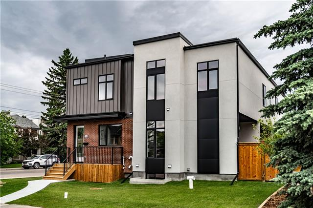 *Watch the VIDEO! * Open House Sat. Sept. 14 - 2-4 pm * This is an AMAZING value for a brand new 4BR townhome in the heart of Capitol Hill.  A perfect inner city location just minutes to the University, Sait, and Confederation Park.  Beyond the location, the home itself is exceptional.  High quality appliances, materials and a modern design have been used throughout.  Fisher & Paykel appliances in the kitchen, quartz countertops, Feature glass panel design making the space feel large and open, as well as wide plank engineered flooring.  The basement features a large bedroom, a 4 pc bath, a rec room and a wet bar! All of this with large windows bringing in loads of natural light.  The second floor has laundry, 3 more bedrooms, great storage and walk-in closets as well as a beautiful ensuite.  The skylight makes it bright, and the tall ceilings throughout the home adds to the feeling of space.  THIS much value, in one place, is RARE in Calgary's inner-city - and all for less than $550k!