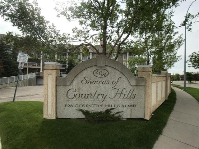 Must see newly renovated, stylish condo in the luxurious 55+ Sierras of Country Hills. Outstanding location in a beautiful established community near transit and shopping. Well managed building in exceptional condition including a long list of amenities such as swimming pool, hot tub, exercise room, pool tables, group gathering area, library, workshop, guest suites and car wash area. This 2nd floor, 1 bed & 1 bath air-conditioned suite includes stylish finishings throughout with luxury vinyl floors & brand new carpet in the bedroom. Open concept living, dining area & bright kitchen with newly updated stainless steel appliances, plenty of counter space and modern cabinet hardware. Updated plumbing & lighting fixtures with new Levelor blinds & gas fireplace are sure to impress. Plenty of natural light fills the spacious master bedroom with tons of closet space too.