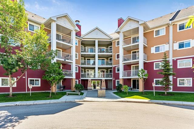 """Enjoy this 1 bedroom, open concept unit with a 4 piece bathroom. You will discover it is well cared for and the Condo fees include all utilities (Gas, water, electricity..Everything except for cable, internet and phone). The bedroom features a large walk-in closet. Also, in-suite is a generous sized laundry room with storage space. Step out onto the fabulous, large and private covered deck (9'9""""x10'0"""") while enjoying your summers. In the cold winter months you don't have to worry about cleaning off snow or warming up the vehicle because there is a titled, heated underground parking stall. This complex is walking distance to shopping, dining, coffee shops and public transportation. Located close to/with easy access to Deerfoot & Stoney Trail - Don?t miss out on this fantastic ?move in ready? freshly painted unit!"""