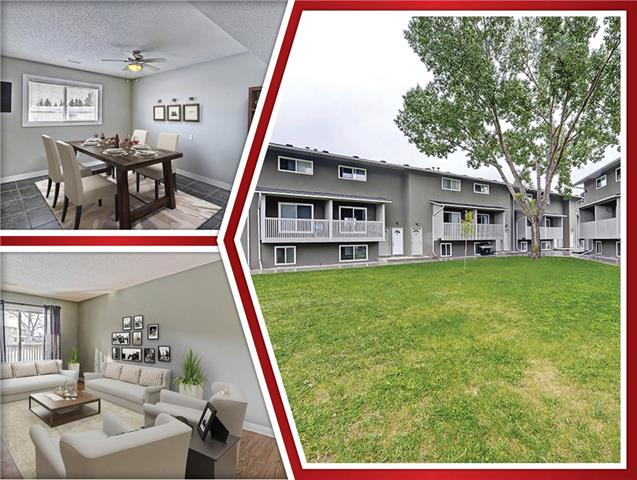 This 3 bedroom, 2 storey townhome offers up terrific value for both first-time Buyers and Investors alike. This West facing unit enjoys lots of light and views of the front common park area. The unit offers a functional layout with great living room space with clean laminate flooring and a view to the deck. The white galley kitchen with plenty of cupboard and counter space creates a practical, efficient area to enjoy cooking! Joining the kitchen is a spacious tiled dining area that can easily accommodate plenty of company ! Upstairs you will find 3 sunny, cheerful bedrooms & a 4 piece bathroom. This unit has 1 exterior parking stall & common laundry room. This is a well run complex with a great location. Close to public transportation, shopping, parks and schools. This affordable town-home offers a great opportunity for buyers!