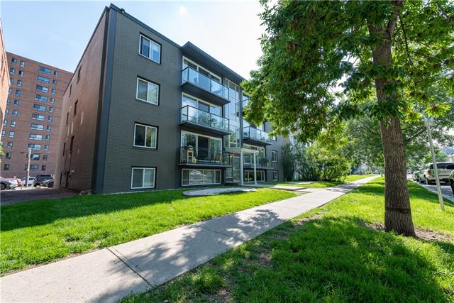 Newly reduced price! In the heart of the Beltline, this 739 sq ft 2 bedroom condo is sure to impress. The well laid out floorplan ensures the entire space is optimized with open & easy access to the kitchen and general living area. Being within a nicely renovated complex, the kitchen is well equipped with shaker cabinetry, breakfast bar, wine rack, & tiled countertops (bathroom as well). Privacy is preserved as you move further back, towards the 2 bedrooms & 4-pc full bath. Key features include laminate flooring in the main areas, parking stall w/ plug in, in-suite laundry, storage separate from the unit, & large windows throughout provide plenty of natural light into this below-grade unit. Be spoiled by the unbeatable location; trendy shops/restaurant & amenities along 17th Ave, downtown, and nearby parks are all a short walk away. This sophisticated unit offers phenomenal value for a 2 bedroom at this price and is the perfect match for those craving a vibrant urban lifestyle. Come view it today!