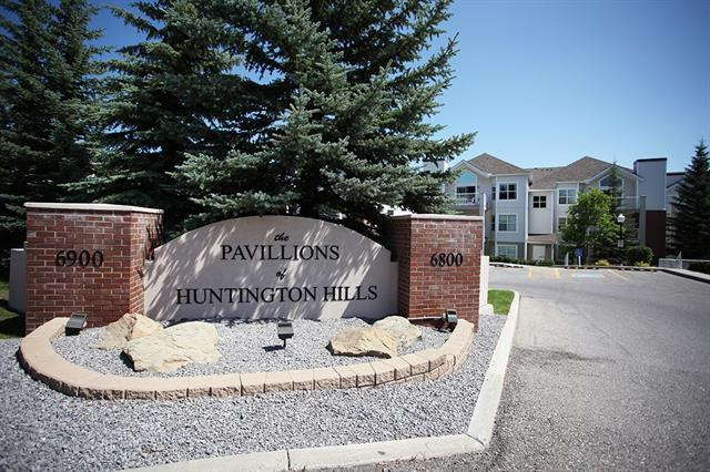 A Bright cheery home, nestled in the centre of The Pavillions of Huntington Hills looking onto the front gardens, trees and pleasant views are seen from your front deck. The fit and finish is impressive in this easy lifestyle condominium, offering safety and security. The floorplan is logical, a center livingroom with a feature fireplace adorned with an elegant mantle. patio doors to a covered deck, with storage locker and gas BBQ hook up! A convenient kitchen with a mini breakfast bar, cabinet space and wall pantry in the corner. The master bedroom is to one side and is spacious. Featuring a walk in closet and a 3piece ensuite, with a large easy walkin shower, with seated areas. There is laundry room as well with extra storage. Heated underground parking, helps in the cold winters! And there is a tunnel leading to the Manor Village at Huntington Hills, to visit friends close by! This is a well maintained, well respected building. The location is near transit, shopping and yet so quiet and peaceful!