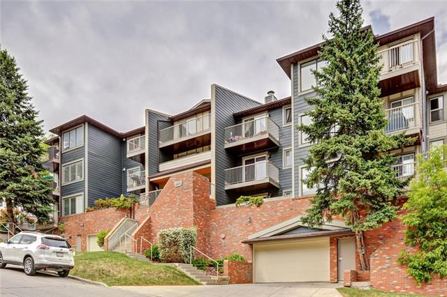 This outstanding one bedroom apartment with secure underground parking is located at the intersection of the popular neighbourhoods of Crescent Heights and Bridgeland. Found on a peaceful cut-de-sac, this unit features a secluded balcony that's great for BBQ season, in suite washer and dryer and tons of cabinet space and storage in the unit. The open concept living area has an updated kitchen with stainless steel appliances, a breakfast bar, hardwood floor and gorgeous modern colours. Park your car and walk! This location is a short wander to transit, parks, the river pathway, amazing restaurants and pubs, shopping and the downtown core! Don't miss out on this one, shows well and ready for move in. Call today for your private viewing!