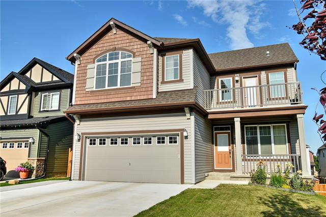 Life is better when you live in Chestermere! This four bedroom home offers over 3000 sq ft of living space plus an unfinished WALK OUT basement. Located across from a children's playground, this home has something for everyone in the family to enjoy! From the main floor den and separate dining room, to the spacious kitchen with Granite Countertops, Stainless Steel appliances, GAS stove, walk thru pantry, and large area for your table. The large living room has a gas fireplace and offers plenty of space for furniture placement. The upper level features four large bedrooms; there are TWO master bedrooms, perfect for a large or extended family! The upper level main bath is a 'jack and jill' as it features two sinks, the teenagers in the family will always have plenty of space to get ready in the morning! Movie night will be fun in the spacious bonus room plus it has its own balcony to relax and enjoy! The walk out basement has plumbing roughed in for a wet bar.