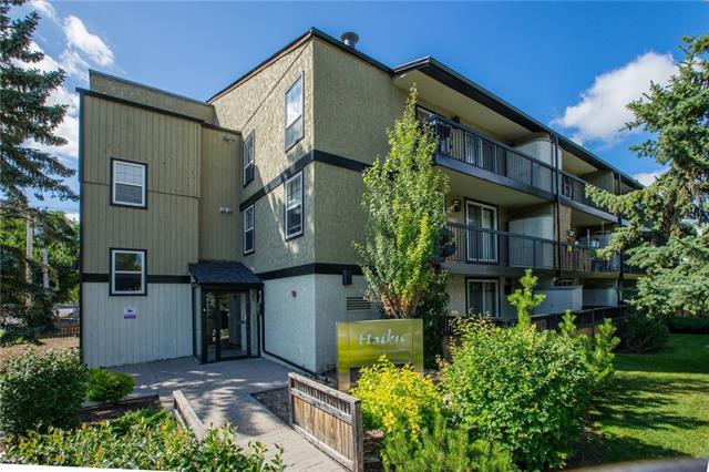 Attention all investors, students, and first time home buyers!!!! A rare opportunity to invest in an affordable one bedroom condominium in the highly sought after community of Capitol Hill. The Haiku is an exceptionally well maintained building with an amazing location on a residential street and only one block away from SAIT, close-proximity to downtown, and a short walk to North Hill Mall. Attention to detail is throughout this upgraded top floor home with a bright open concept floor plan and contemporary decor. The designer influenced kitchen features stainless steel counters, upgraded stainless appliance package, plenty of counter/cupboard space, and a center island. Adjacent to the kitchen is the dining nook and spacious living room with large sliding doors to the balcony overlooking the fully landscaped grounds and quiet street. A generously sized master includes a walk-in closet with stacked laundry and is beside the 4-piece bath with modern fixtures, ceiling height tile, and dual shower heads.
