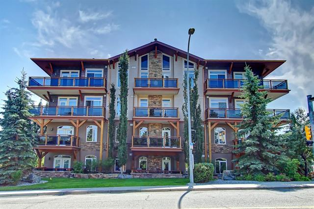 Welcome to HAVENWORTH, the upscale executive complex located close to the WINTER CLUB, Nose Hill and Confederation park and just minutes to downtown, or the airport. This large 2 bedroom main floor unit boasts a gourmet Kitchen featuring Lyptus wood cabinetry, granite counters, and top-of-the line SS appliances; open concept to your living area featuring impressive gas fireplace & access to a large patio. African Sapelle wood interior doors, frames & casings; Pangeli iron wood floors : 9.5' ceilings throughout, central air in unit & conematic heating system. 2 large bedrooms (master has full ensuite). This elegant home also offers an insuite laundry/storage room  The 2 full bathrooms are well finished with high quality cabinetry. Large Titled Underground parking stall, visitor parking and a large storage unit are also included. With easy access to major routes, downtown, parks, shopping and recreation this is a perfect choice for maintenance free living.