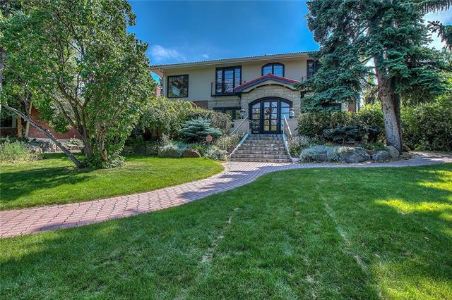 A rare opportunity to acquire a piece of Calgary?s heritage. Residing on one of only a few true estate lots in the heart of Upper Mount Royal (121?x260?) the Max Bell House is rich in provenance and history. This 7492 sq ft estate home offers exceptional downtown views, private patio overlooking a vast beautifully landscaped secluded south yard, separate 2 BED CARRIAGE HOUSE & heated triple garage. The elegant main floor with hardwood throughout offers formal living room/library & dining room, family room, 2 fireplaces, gourmet kitchen with large granite island, high end appliances and spacious nook. The luxurious main floor master has o/s walk-in closet and recently renovated relaxing spa inspired ensuite. The second floor has 4 large bedrooms (3 with ensuites) & large laundry. The fully developed lower level has large rec/exercise room, media & snooker rooms, wet bar, wine room, sauna, bedroom & bathroom. Easy access to downtown, the Glencoe Club, great schools, river paths, parks, shopping & much more.