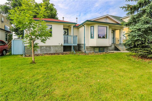 **Open house Sept 7 2-4pm** R-C2 50X120 in desirable community Capitol Hills. Renovated huge bungalow (1300+sqft) converted into side by side duplex with great revenue. Close to ALL AMENITIES. Minutes walking to C-train, shopping center, SAIT and U of C. It features 4 bedrooms, 2 kitchens, 3 Full baths and 1 half bath. New laminate floor in Unit B basement and new hood fan. Newer hardwood and laminate floor, newer appliances, Separated FURNACES for each unit, SOUTH FACING FULL FENCED BACK YARD WITH DOUBLE GARAGE and 3 more parking spots on the back. Rent was minimum $1500 per month for unit A and $1200 for unit B. Seller will replace the roof and window in the basement to compliance to city code for suite. Seller is motivated.