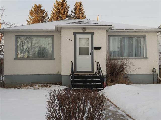 Excellent INNER CITY location in Desirable Winston Heights on a 45x120 RC-2 lot. This BRIGHT and CHEERY bungalow has plenty of windows allowing for tons of natural light to flow through. The main has hardwood floors, spacious kitchen and living room with great potential. There are also 2 large bedrooms and a full bathroom. There is also basement SUITE (illegal) with a separate entrance off the side. It has lots of windows making it NICE and BRIGHT! You will ENJOY the large BACKYARD! Walk to Co-op for your groceries. Minutes to downtown, close to Sait, U of C, major roadways and more. Incredible value!