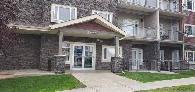 GREAT GROUND FLOOR two bedroom unit in this popular, well located and well managed Canvas at Millrise complex. Short distance to cTrain transit. Open concept, good size kitchen with stylish cabinets, and a huge island. Living room and kitchen. Master bedroom features a walk-through closet leading to the 4pc ensuite. Second bedroom with a full 4-piece bath. Unit comes with a titled underground parking and your own secured. Building is located conveniently next to Sobeys, Starbucks (!), and restaurants. It's a short walk to the C-Train, movie theatre, quick access to fish Creek Park and more. ***COME CHECK THIS OUT***