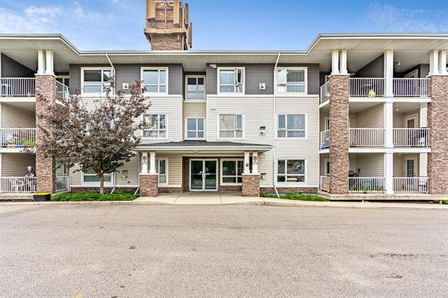 AMAZING opportunity to own an Exceptionally spacious 1 bedroom, INNER CITY Condo under $195K! Easy access to U of C, Downtown, Airport, Centre Street and Deerfoot Trail. Great value for this beautiful unit complete with in-suite laundry, Titled Underground Heated Parking and large storage locker. With 693 SF, this West facing open layout features large windows that flood the home with natural light. A versatile u-shaped kitchen with gorgeous maple cabinets, subway tile backsplash and flush island with eating bar, cozy living room with corner gas fireplace and a Sunny balcony with natural gas line for your BBQ and room for table and chairs. Huge Master bedroom features his and her closets and cheater door to the 4 pc bath. A large storage room completes this lovely unit. Prime location with Beddington Centre, Harvest Hills Crossing and Deerfoot City minutes away. A place just for you. Make Inner City living your reality, CALL TODAY!