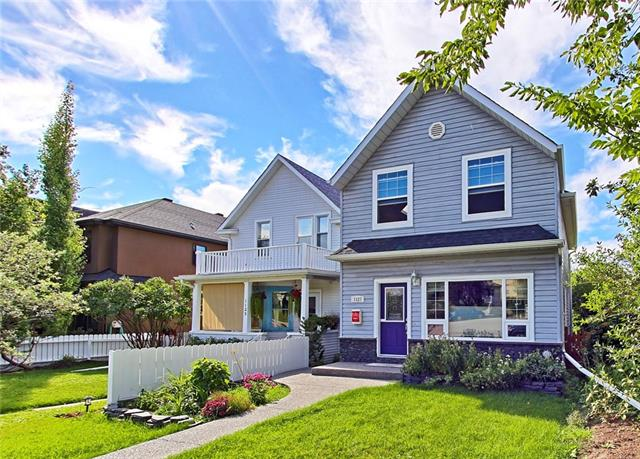 Renovated walkout, backing West on the Park in coveted Rosedale! Newly added on to, this 1800+sq ft home gets you in one of Calgary's most prestigious neighborhoods for a fraction of the price. Major reno in 1993, then reno addition in 2014 w/ all new plumbing, on-demand, tankless water system, windows, new roof, electrical, vacuflo, flooring, insulation and its ready for a new family or couple looking to downsize. 3 Bedrooms up, 1 down, 3.5 bathrooms, fully developed basement and open concept main level of living, dining and kitchen, 9 ft ceilings + Air Conditioning make this the ultimate in family functionality. Enjoy the lrg master bedroom with 4pc ensuite, skylights and evenings overlooking the skating rink, tennis courts & park.  Just off Crescent rd for those long ridge view walks, steps to the K-9 top ranked Rosedale school, climbing park & basketball courts. This is great opportunity in an amazing location only 10 walk to downtown, Kensington & SAIT... well priced for a quick sale in this market