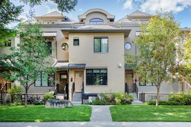Condo fees will reduce by half end of 2020, seller will pay $300 a month towards condo fees until they drop back down. Welcome to this executive townhouse in the community of Parkdale. Located on a quiet tree lined street you're just steps away from the river pathway system, a quick drive to downtown Calgary or a bite to eat at Lazy Loaf & Kettle. This 3 storey townhouse has high end finish throughout including the top level totally devoted to the master bedroom and ensuite bath. The open main level has ceasarstone counters, custom cabinets and stainless steal appliances. There is a dining room/living room combo on the main with a gas fireplace. The second level has a family room, 4 piece bathroom with a cheater entrance to the large second bedroom. The entire third level is a luxurious master bedroom with a 4 piece bathroom and walk-in closet. The entire home has clever storage space spaces as well there is a storage locker. There is an underground parking stall. Call today for your private viewing!