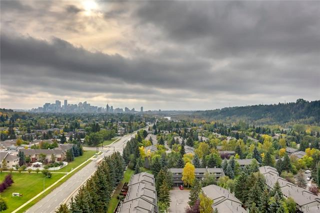 **OPEN HOUSE FEB 29 2:30-4:30** Welcome home to this beautiful+bright city view apartment! Walking in the front door you are greeted by an inviting open floor plan and floor to ceiling windows overlooking the city and the foothills. Recent updates include fresh paint throughout and new carpet in the bedroom. Great location, whether you are looking for an investment property or just wanting to step into a low maintenance lifestyle - this apartment has quick access to downtown, UofC, Foothills & Children's Hospital and is only steps from the Bow River, Bow River Pathway System, and Edworthy Park. Within the complex you'll find a liquor store, spa, salon, and the Riverside Club (option to become a member-tennis, swimming pool, gym). Building is wonderfully maintained and the full time concierge + security add ease and peace of mind. Don't miss your opportunity to call this place home!