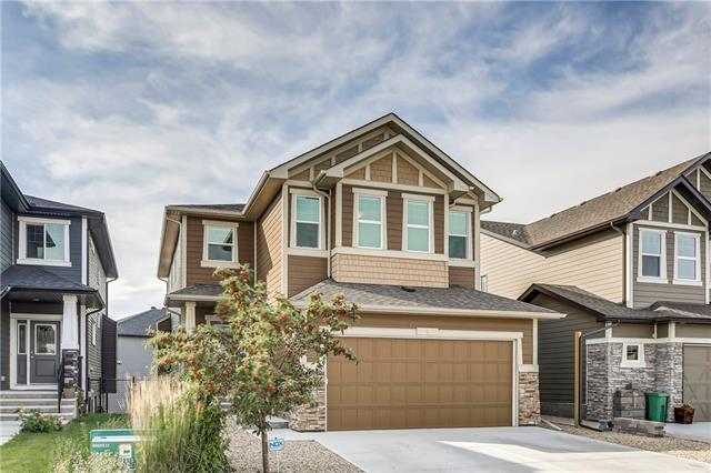 Great value for this single family home with a south facing back yard, mountain views,  and a walkout basement! Live in the Air ranch with NO CONDO FEES! A beautiful sterling built home this 4 bedroom up walkout is sure to impress. 9' ceilings, massive windows, and one of the biggest kitchen islands out there star in this fantastic floor plan. The kitchen features upgraded stainless appliances, quartz counters, and a massive walk in pantry. Both the living and dining rooms are a great size, and there is also a main floor office. Upstairs there is a giant bonus room with extra high ceilings and all 4 bedrooms are massive. Upstairs laundry is another great feature, and the master bedroom enjoys spectacular mountain views. Quartz counters continue through all of the bathrooms. A giant walk in closet and huge master bath are sure to be appreciated. Downstairs the walkout basement leaves tons of room for you to develop whatever your family needs. The yard is low maintenance landscaped and has views of the park