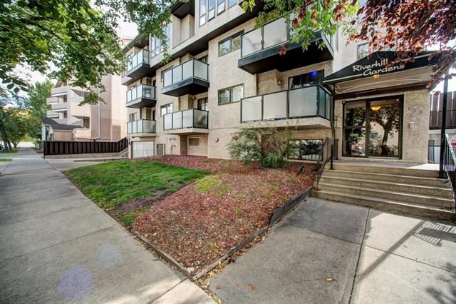 HUGE REDUCTION. Live in the heart of BRIDEGLAND.  Walk to work downtown, shopping, & the some of the best dining in the city.  This amazing location is just minutes to the river pathways.  With over 1200 sqft of living space, this 2 bedroom / 2 bath condo feels more like a single family home.  The spacious kitchen affords loads of counter and storage space.  The formal dining area is large enough for dining and entertaining.  Flowing into the living room is a cozy FIREPLACE and deck with VIEWS to the North.  The king sized master is a real retreat with walk in closet and 2 piece en suite.  Another bedroom and full bathroom complete the unit.  Underground parking. Condo Fees include HEAT, GARBAGE REMOVAL, PROFESSIONAL MANAGEMENT, SNOW REMOVAL, RESERVE FUND CONTRIBUTION & WATER AND SEWER.  You don't want to miss this opportunity.