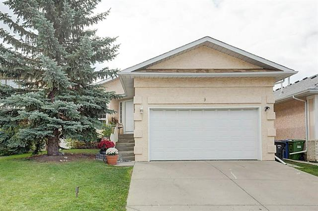 With its fantastic location and the convenience of being just one minute off Stoney Trail, this charming 1486 SF walkout bungalow in Scenic Acres offers amazing potential to anyone seeking sweat equity or revenue potential in this neighbourhood.  Entering the home, you are immediately taken by the bright and spacious living room / dining room that leads into the kitchen and family room with fireplace and access to the deck.  A vaulted ceiling and refinished hardwood floors add to its charm.  Walk down the hall to the three generous sized main-floor bedrooms including master with walk-in closets, ensuite and separate entrance onto the south facing deck.    The unfinished walk out basement offers plenty of natural sunlight and is laid out well for future development of bedrooms, entertainment room or even a mother-in-law suite! Dog lovers will appreciate the dog run located along the east side of the home.  There is also a must see mezzanine over the garage with ample storage space not usually seen.