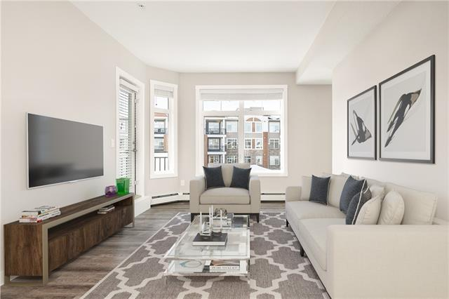 """OWN FOR AS LITTLE AS $1054/MNTH*!! Get out of the rental cycle and buy one of the units in the Mark 101 before it's gone. 65% sold means these units are going fast. You don't have to beg or budget for upgrades. There are all included here as standard. Stylishly finished with water resistant luxury vinyl plank flooring and granite countertops throughout the unit. Upgraded colour palette. 9' knocked down stipple ceilings! Low-E Windows! 2"""" Faux wood blinds! High Quality Delta Voisin bathroom accessories! acoustical sounds mat floor system! Insuite laundry with sepertate titled underground secure parking and extra storage! Pet friendly building! This complex redefines condo living, but you are going to have to come see that for yourself."""