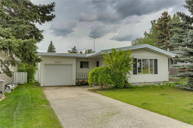 Fantastic home in coveted Collingwood! This solid 1133 sqft bungalow sits in a prime location, just one in from Confederation Park golf course. Easily access numerous bike paths, green spaces & transit options to downtown. The main floor has three bedrooms, full bathroom, living & dining rooms along with an east-facing kitchen. The basement has a fourth bedroom, family room & large bathroom with jacuzzi tub & 5 year old hot water tank. The home also boasts network-quality wiring throughout. Parking is not an issue as there is a single attached garage (perfect as a workshop as well) AND a three year old oversized double detached garage. There is a reinforced concrete pad in the patio which makes it easy to add-on. Close to schools, shopping, SAIT, Foothills hospital, U of C, parks & main roads - this quiet street does not have much traffic. Whether moving right in or renovating to make your dream home or rental property, this is the perfect chance to own a great house in an awesome central location.