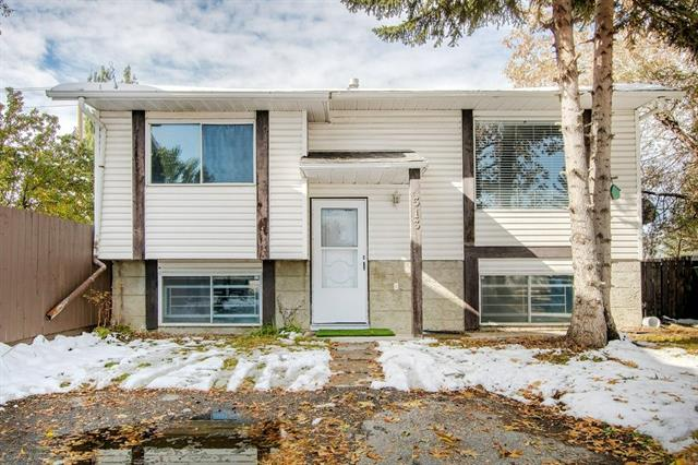Open house 10/26/2019 (Saturday) 2 to 4 pm.  Lowest priced single family Bi-level in the area. This freshly painted move-in ready Bi-level home will please you with the abundance of natural light, fully finished basement with a illegal suite. Well located on a quiet cul-de-sac backing onto a community green belt with a view.  The home features a spacious front living room with quality wood trim, Euro-style kitchen with adjoining family dining area, rear entry door to a covered vinyl deck/west backyard, huge main floor master bedroom, two  lower bedrooms or optional family room/ den/ bedroom, two bathrooms, fenced and landscaped yard,paved front 3 car paved parking pad.  This home is conveniently located, a short  walk to the nearest bus station, schools, LRT, shopping complex and all amenities. Excellent value.