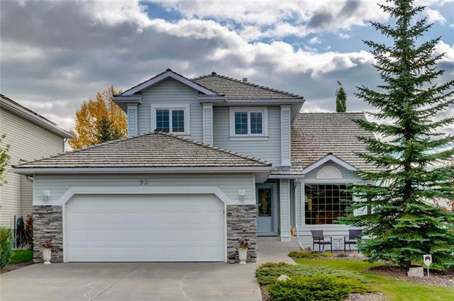 Welcome to 93 Gleneagles View in scenic Cochrane - an immaculate, updated 5 bedrm home w/ fully finished WALKOUT, BACKING ON THE PARK & PLAYGROUND. Imagine raising your family here for years to come. Updates/upgrades include: New exterior doors, phantom screens front & back, large rear deck w/ maintenance free composite flooring & aluminum/glass railings, Hunter Douglas 'caf�' style blinds, beautiful island kitchen w/ GRANITE counters, SS APPLIANCES, slate backsplash and pullout shelves/drawers, MAIN FLOOR DEN, awesome closet storage, main floor laundry w/ almost new top-end laundry pair, inviting gas fireplace, 3 good sized bedrooms up, gorgeous, updated ensuite with soaker tub, sep. shower & HEATED FLOORS, add'l 2nd updated full bath up, fully finished walkout basement w/ cozy family rm area that boasts a media area w/ 2nd fireplace & built-ins, adjacent games area w/ wet bar, 2 add'l bedrooms & a 3 pce bath w/ STEAM SHOWER & HEATED FLOORS! Oversized garage, 2 patios, fenced yard and GREAT CURB APPEAL!