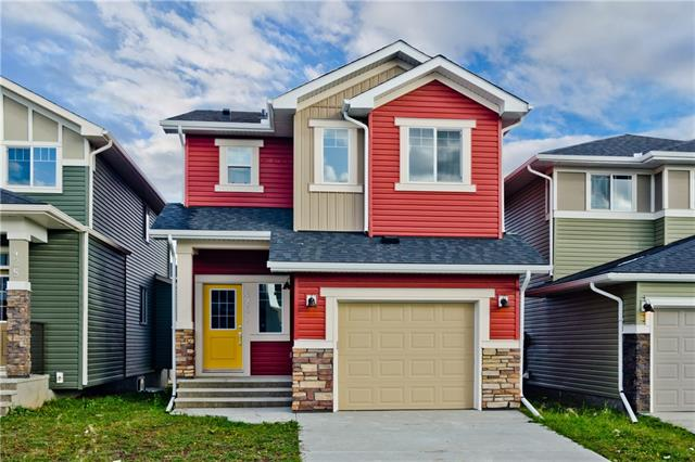 Welcome to this BRAND NEW home by Genesis Builders in the community of Bayview. This home has an attached oversized single-car garage, features laminate flooring on the main floor and quartz countertops throughout. The open main floor features 9 ft ceilings, large mudroom, grey maple cabinets, STAINLESS STEEL kitchen appliance package, pantry & a GAS fireplace in the great room. Upstairs has a large master bedroom with a beautiful ensuite, tiled shower and walk-in closet. The other 2 bedrooms are spacious, the bonus room is bright and centrally located and the laundry rough-ins are in its own room. Front landscaping package is also included. With proximity to the canals, school, and all that Airdrie has to offer, this home is sure to please.